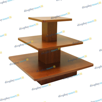 3 Tier Square Display Table - Cherry