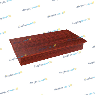 "48""L Rectangular Glass Display Base - Cherry"