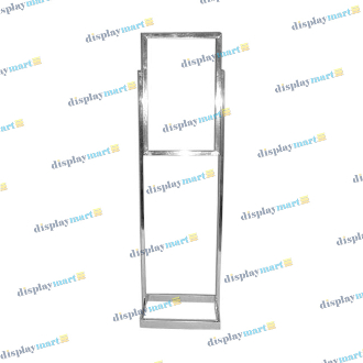 "14""W X 22""H Rectangular Tube Bulletin Sign Holder - Chrome"