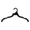 "16"" All Plastic Dress / Shirt Hanger - Black"
