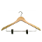 "Pack of 17"" Wooden Suit Hangers - Natural Wood"