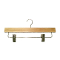 "Box of 14"" Wooden Pant / Skirt Hangers - Natural Wood"