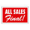 """ALL SALES FINAL"" Plastic Sign Card"