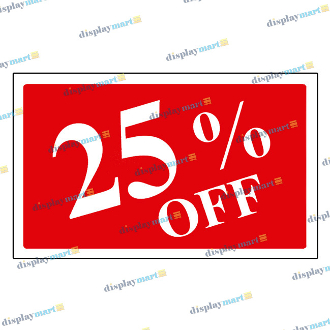 """25% OFF"" Plastic Sign Card"