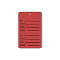 Perforated Price Tags - Red