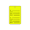Perforated Price Tags - Yellow