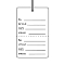 Perforated Large Price Tags With Strings - White