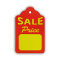"Large ""SALE PRICE"" Scallop Price Tags - Red"