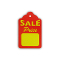 """SALE PRICE"" Scallop Price Tags - Red"