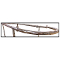 Curved Add On Rail For Double Bar Clothing Rack - Chrome