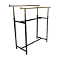 Double Bar Clothing Rack - Black