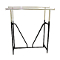 Double Bar Clothing Rack With V Brace - Black