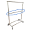 Add On Rail For Collapsible Salesman Clothing Rack - Chrome