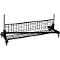 Folding Shelf For Single Bar Z Rack - Black
