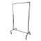 Single Bar Pipeline Clothing Rack - Coated Metal
