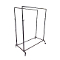 Double Bar Pipeline Clothing Rack - Coated Metal