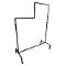 2 Tier Single Bar Pipeline Clothing Rack - Coated Metal