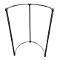 Half Round Pipeline Clothing Rack - Coated Metal