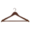 "Pack of 17"" Wooden All Purpose Hangers - Walnut"