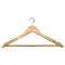 "Pack of 17"" Wooden All Purpose Hangers - Natural Wood"