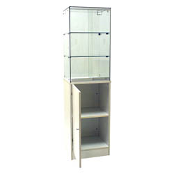 Frameless Tower Display Cases